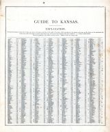 Kansas - Guide 1, United States 1885 Atlas of Central and Midwestern States